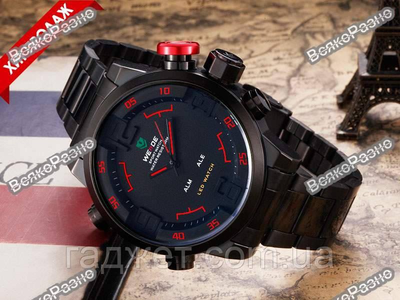Мужские спортивные стильные часы Weide Sport Red