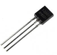 Транзистор биполярный MJE13001 - TO-92, n-p-n, 600В, 0,2А
