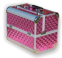 Чемодан металлический раздвижной розовый 740 YRE