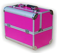 Чемодан металлический раздвижной розовый 740С YRE