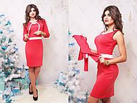 """Женский деловой костюм """"Minova"""" платье и жакет (2 цвета)"""