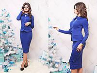 """Офисное платье-футляр """"Nova"""" с имитацией жакета (2 цвета)"""