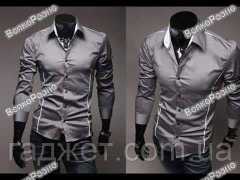 7d158ff8a45 Мужская рубашка серого цвета. - Гаджет в Днепре