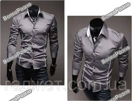 Мужская рубашка серого цвета., фото 2