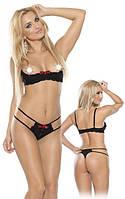 Сексуальный комплект женского белья Open Cups Bra & String