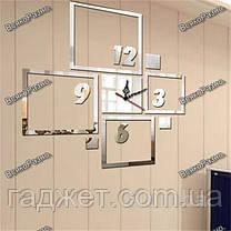 Оригинальные настенные часы квадраты, фото 3