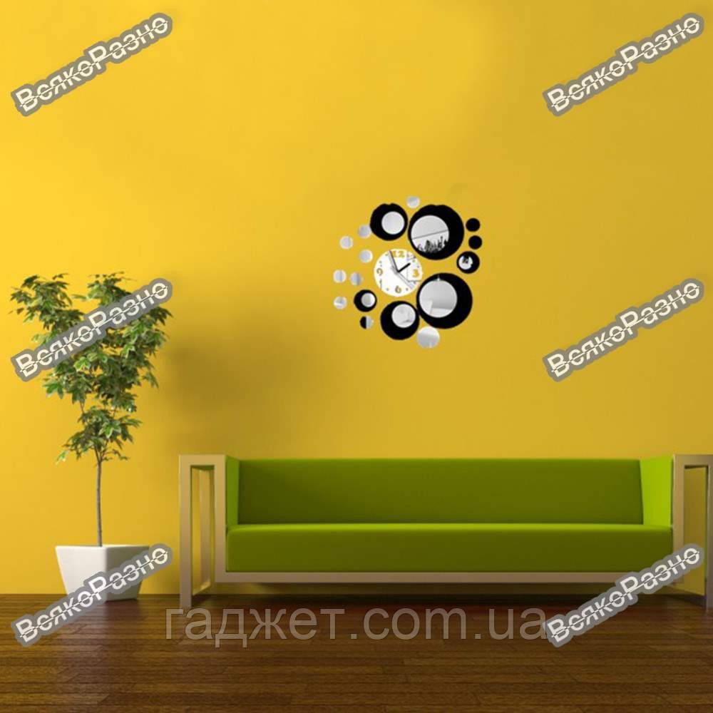 Настенные часы в черном цвете. Часы на стену.
