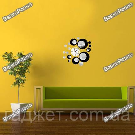Настенные часы в черном цвете. Часы на стену., фото 2