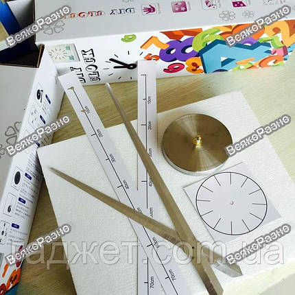 Акриловые зеркальные клеившиеся настенные часы / Роскошные зеркальные часы серебряного цвета. Настенные часы, фото 2