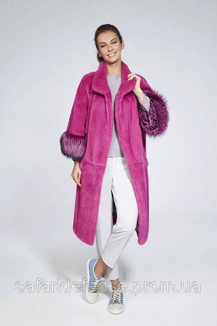 Стильная норковая шубка из цветной норки с лисой - Интернет-магазин одежды, обуви, домашнего текстиля Fashion Story в Харькове