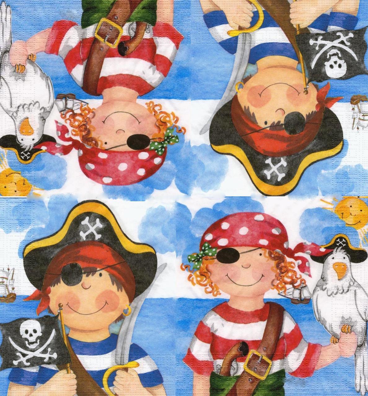 Салфетка декупажная Маленькие пираты 6686