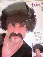 Парик кучерявый чёрный