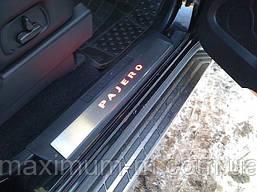 Накладки на пороги для Mitsubishi Pajero