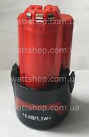 АККУМУЛЯТОРЫ для шуруповертов:10,8 вольт:Аккумулятор для шуруповерта Li-Ion 10,8 В, 1700 mA/h BOSCH