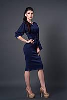Модное платье длинной за колено. Размеры: 44, 46, 48.