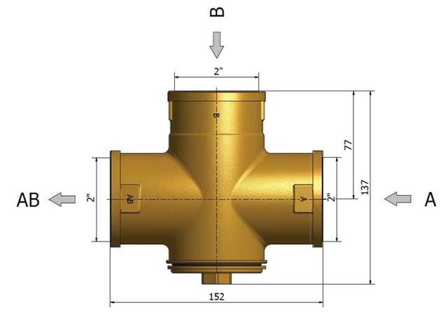 Трехходовой смесительный клапан Regulus TSV 8 B 55°C