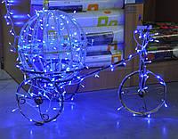 Карета з кулею декоративна сяюча LED