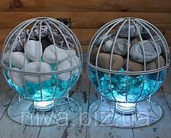 Куля світильник з декоративним камінням та склом безпровідний LED