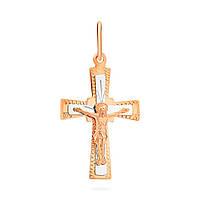 Православный нательный крест из комбинированного золота