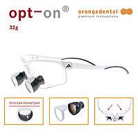Бинокуляры Opt-on 2.7 TTL с индивидуальными межзрачковым расстоянием и асферическими линзами Orangedental