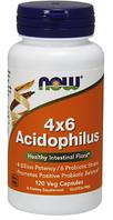 Ацидофилус, Now Foods, Acidophilus 4 X 6 Powder, 120 Caps
