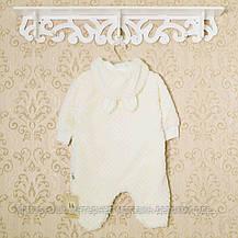 Махровый комбинезон с подкладкой,0-1,3,5 мес для новорожденных. Код 1431беж.Рост 56_62_68 в наличии, фото 3
