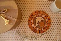 Подставка под кружку деревянная