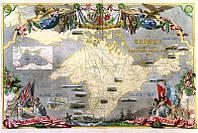 Карта Крыма времен Крымской войны 1856 год