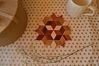 Підставка під чашку дерев'яна