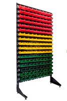 Односторонний стеллаж 1800 с пластиковыми ящиками