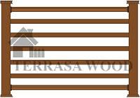 Декоративный заборчик - тип 7 (5 цветовых решений, браш, под дерево)