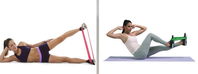 упражнения с резиновыми петлями
