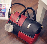 Двухцветная сумка боченок