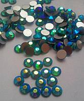 Стразы Blue Zircon AB (сине-зеленый) SS16 холодной фиксации. Цена за 144 шт, фото 1