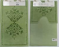 Набор ковриков для ванной и туалета  Arya Zambak зеленый