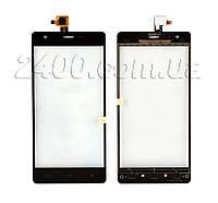 Тачскрин (сенсор) Nomi i506 Shine телефона оригинал черный (black)