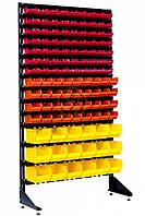 Односторонний стеллаж с ящиками