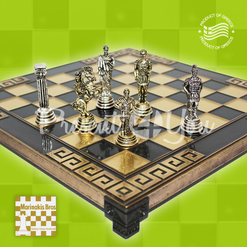 Шахматы «Римляни» Marinakis, 28x28 см.