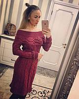 Модное женское вязаное платье 112
