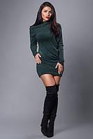 Модное платье (бутылочное),короткое,рукав-летучая мышь.