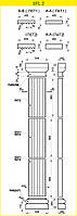 Пилястра 3500 / 540 комплект колонны
