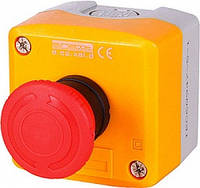 Кнопочный пост e.cs.stand.xal.d.174топ, кнопка-грибок, поворотный возврат