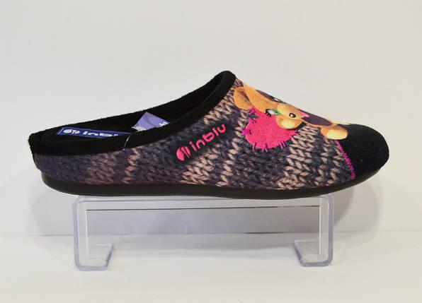 Женские черные тапочки Inblu , фото 2