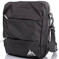 Мужская серая спортивная сумка на плечо ONEPOLAR(ВАНПОЛАР) W5676-grey