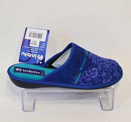 Женские синие тапочки Inblu RB-1S, фото 2