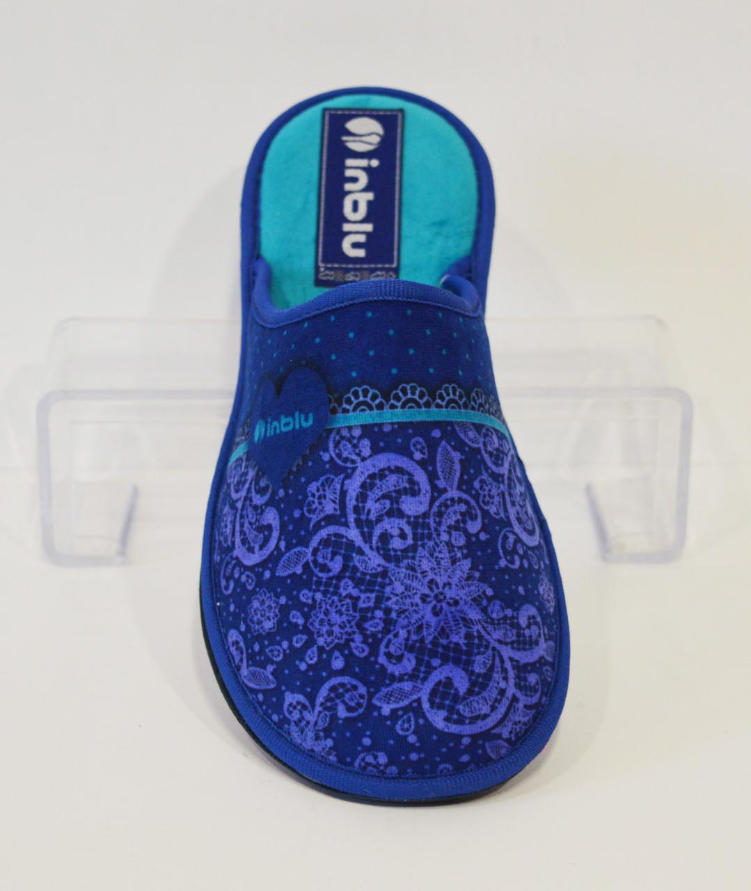 Женские синие тапочки Inblu RB-1S