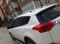 """Рейлинги Toyota RAV 4 2013+  Crown (тип skyport), сплошный алюминий, цвет """"Серый"""