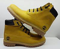 Ботинки мужские зимние/демисезонные Timberland нубук желтые T0034