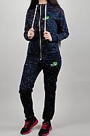 Зимний женский спортивный костюм Puma 7182 Тёмно-синий