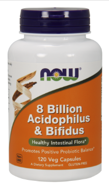 Комплекс пробіотиків, Now Foods, 8 Billion Acidophilus and Bifidus, 120 caps